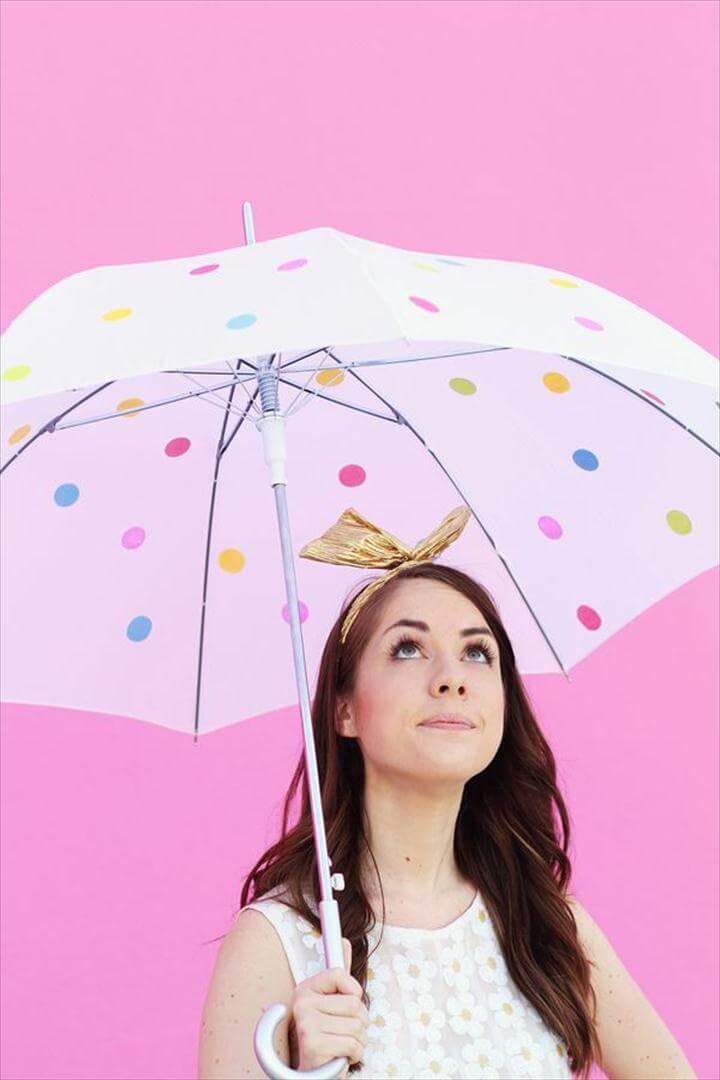 DIY Umbrella - Cute Summer Projects. Polka Dot