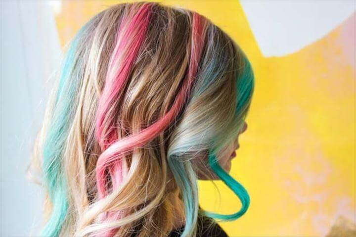 DIY Rainbow Hair Chalk