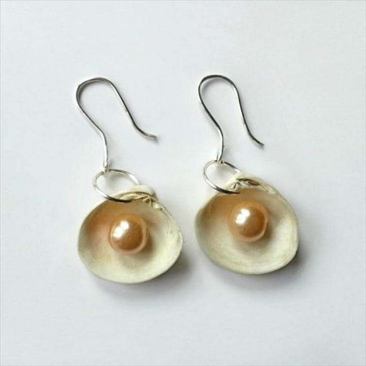DIY Sea Shell Earrings