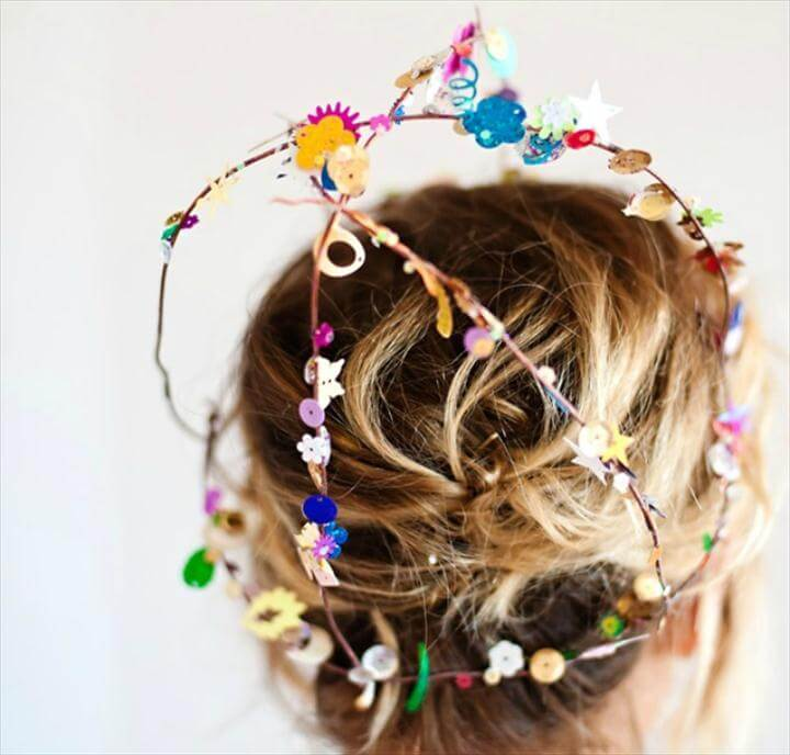 colorful sequin headpiece