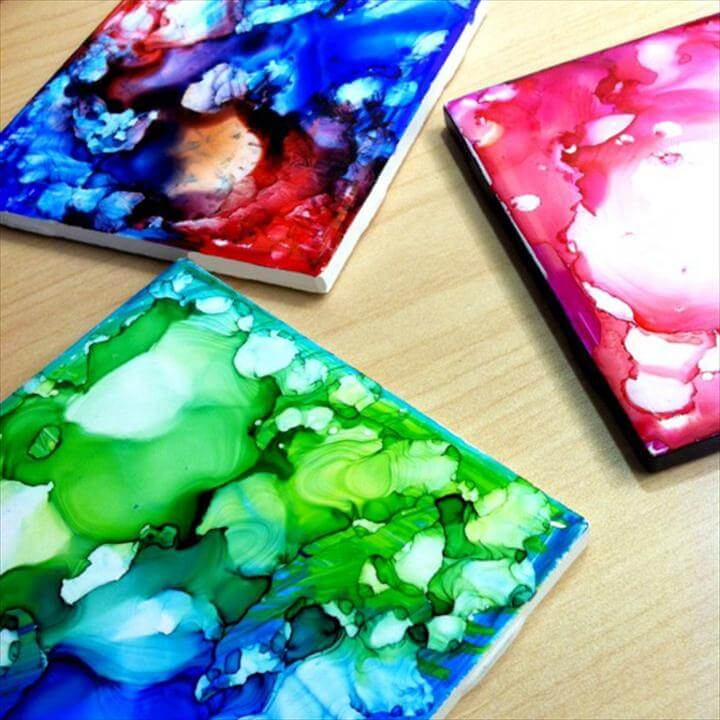 Cool DIY Sharpie Crafts Projects Ideas, Sharpie Coasters for Fun DIY Home