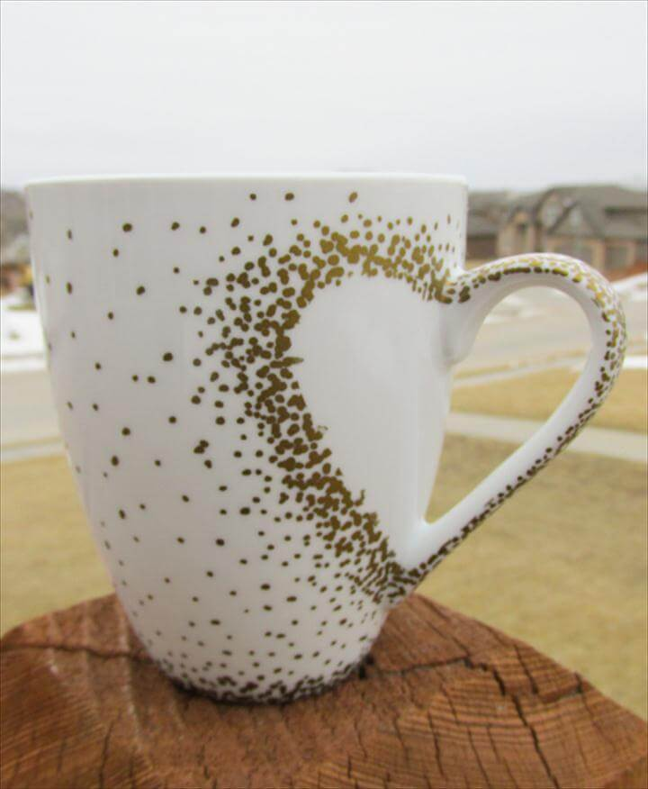 sharpie heart mug