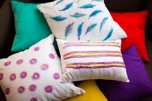 Diy sharpie pillows