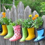 Rainboot Container, Garden Decor Ideas