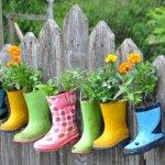 Rainboot Container, Garden Decor Ideas