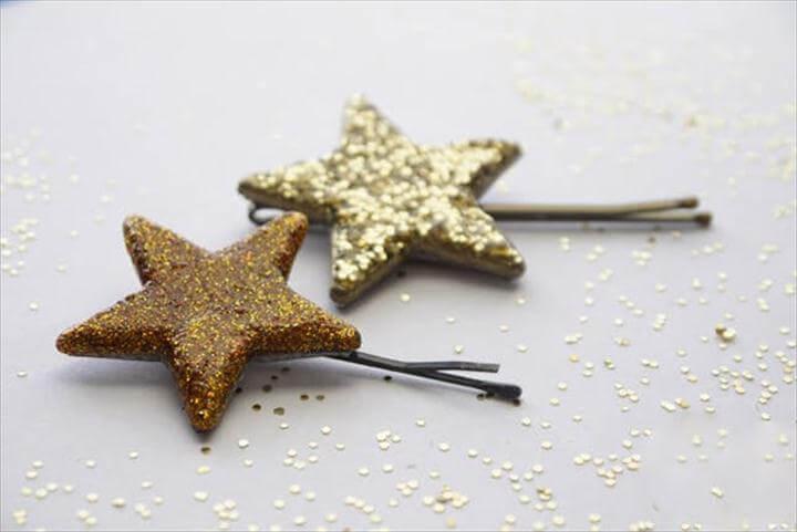 Glittered Star Pin