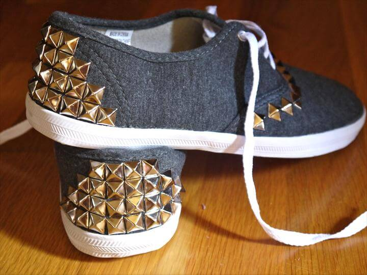 DIY SNEAKER, STUDDED SNEAKERS