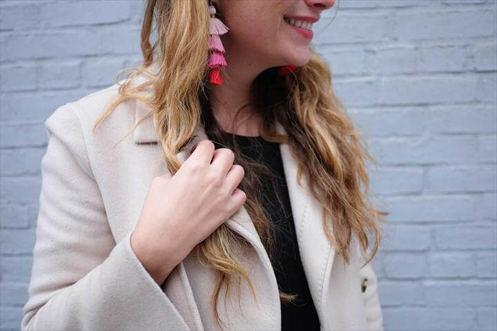 diy earrings, tassel earring