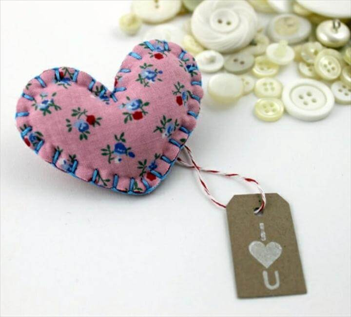 Fabric heart sew by you
