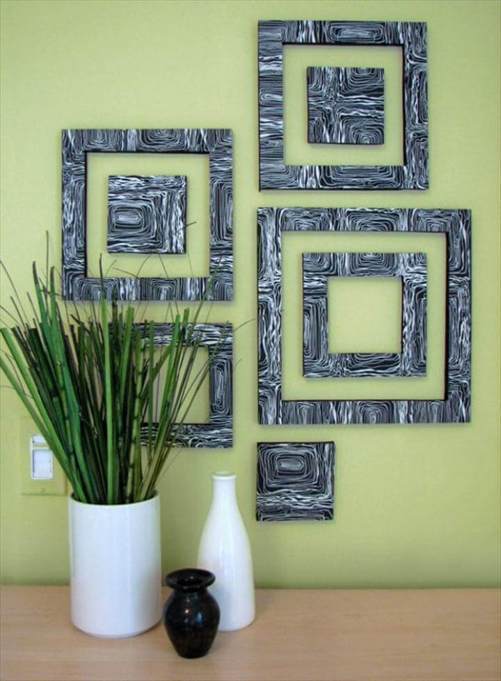 Wall Art Patterned Squares, DIY Wall Art Ideas and Do It Yourself Wall Decor for Living Room, Bedroom,