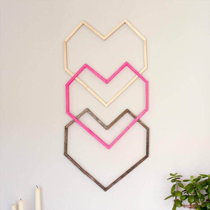 This graphic, modern DIY wall art idea is perfect for a hip nursery, bedroom