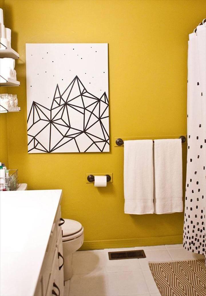 Washi Tape Crafts - Easy DIY Wall Art - Wall Art, Frames, Cards,