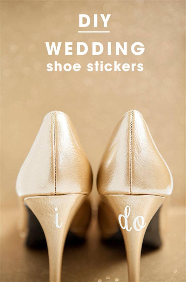 wedding shoes decals