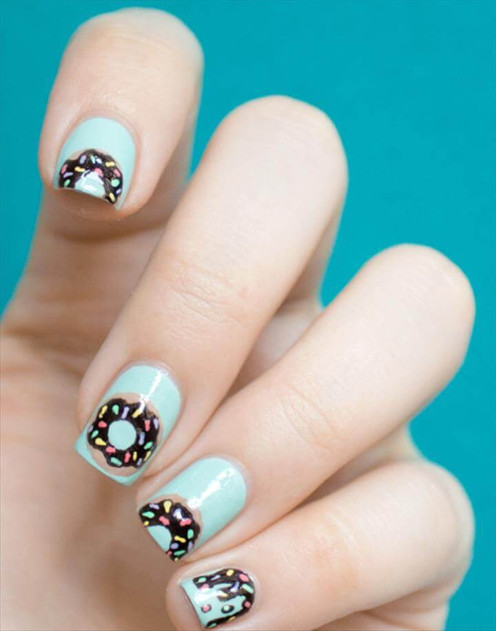 Awesome Nail Art Patterns And Ideas - Donut Nail Art