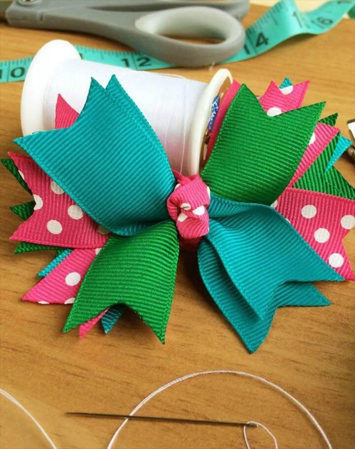 hair bows out of ribbon