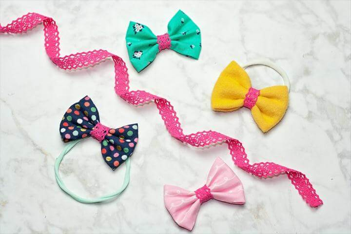 diy bow, bow ideas, diy tutorial, colorful hair bows