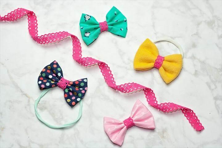diy bow, bow ideas, diy tutorial, colorful hair bows