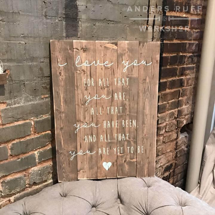 pallet wood sign
