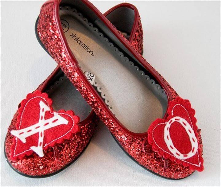 DIY Flats, Heart shoe