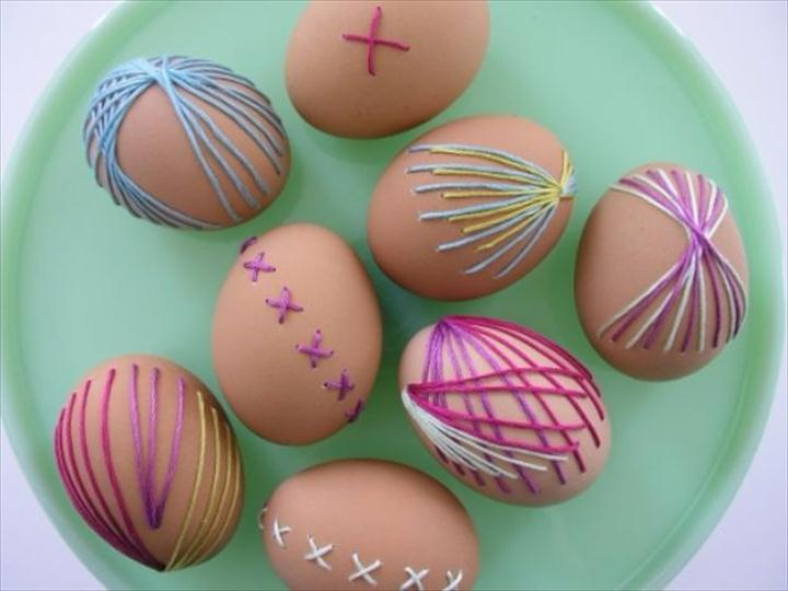 Embroidered Eggs