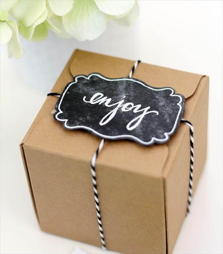 homemade gift tag idea