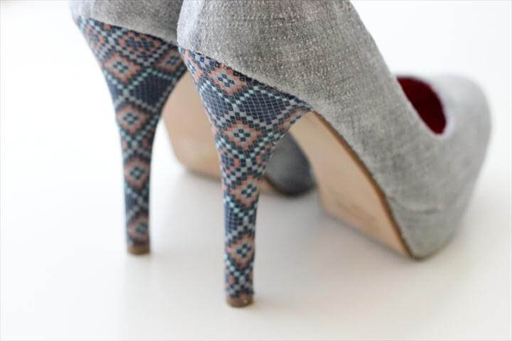 fabric covered heels