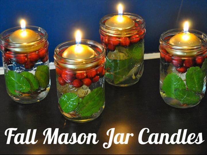 decorative candles, mason jar candles