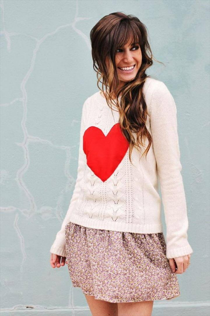 DIY Heart Sweater,