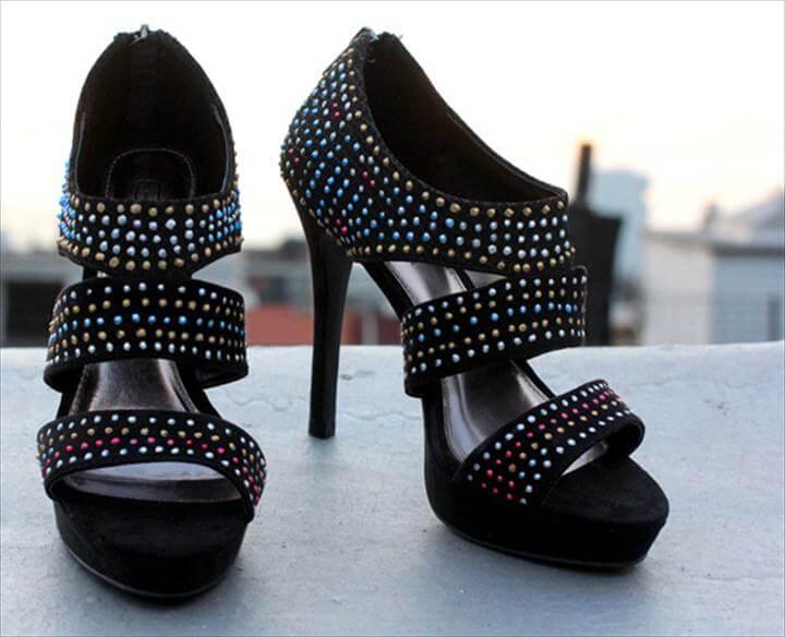 diy beaded heel, DIY Faux Beaded Heels & Contest