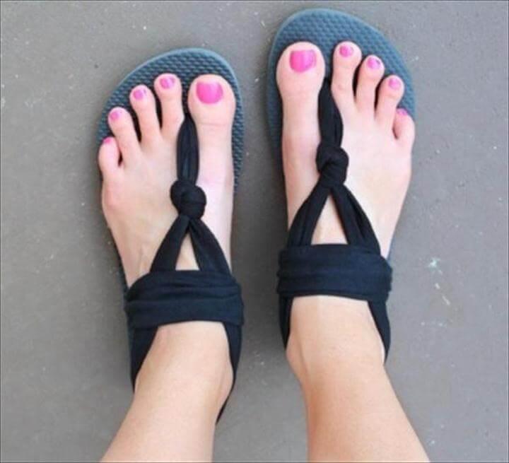 DIY Cloth Flip Flops