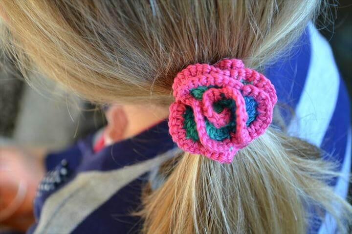 Spiral Corkscrew Hair Tie - Crochet Hair Scrunchiie - Crochet Hair Accessories - Crochet Hair bands - Crochet Hair Ties