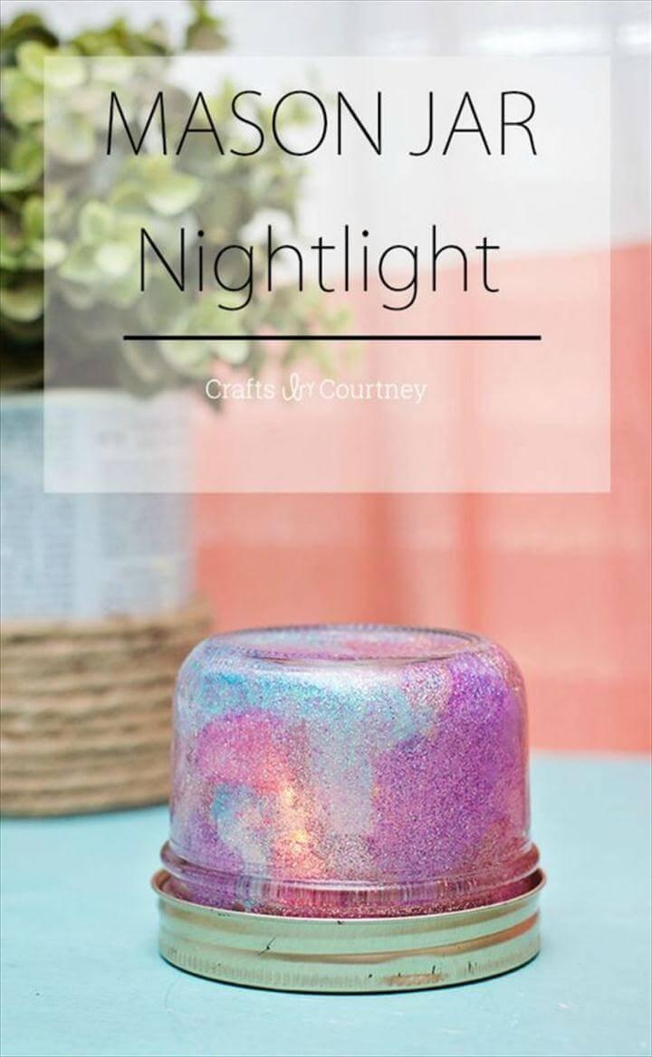 Galaxy Inspired Mason Jar Night Light