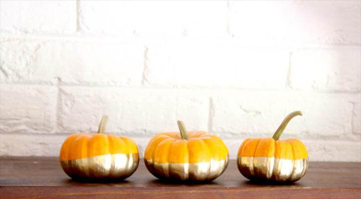 Gilded and Gold-Dipped Pumpkins