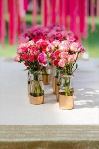 DIY Gold Painted Vases