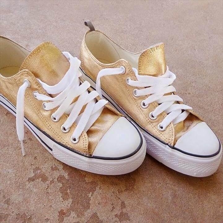 diy gold shoes