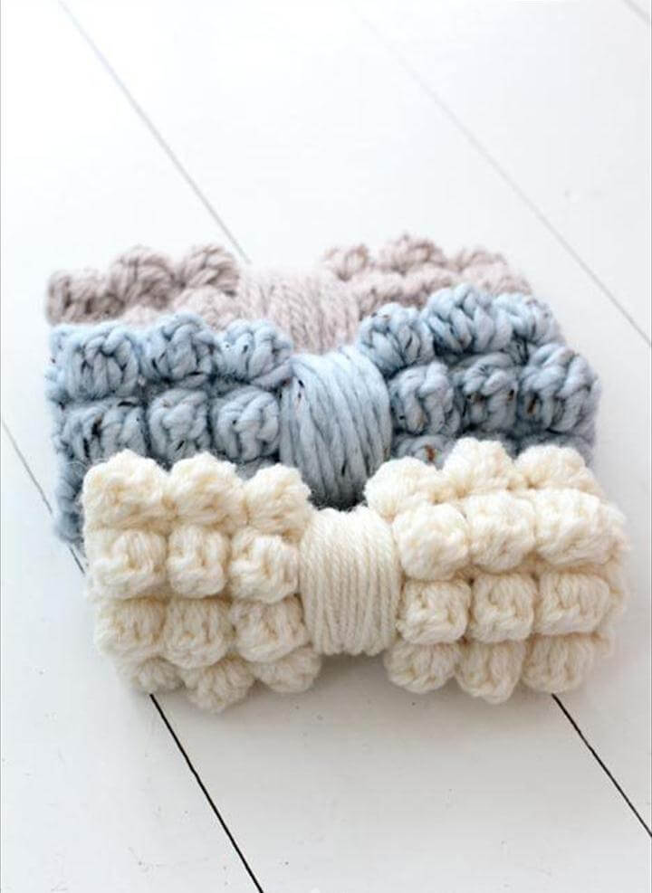 Crochet Chunky Bobble Bows