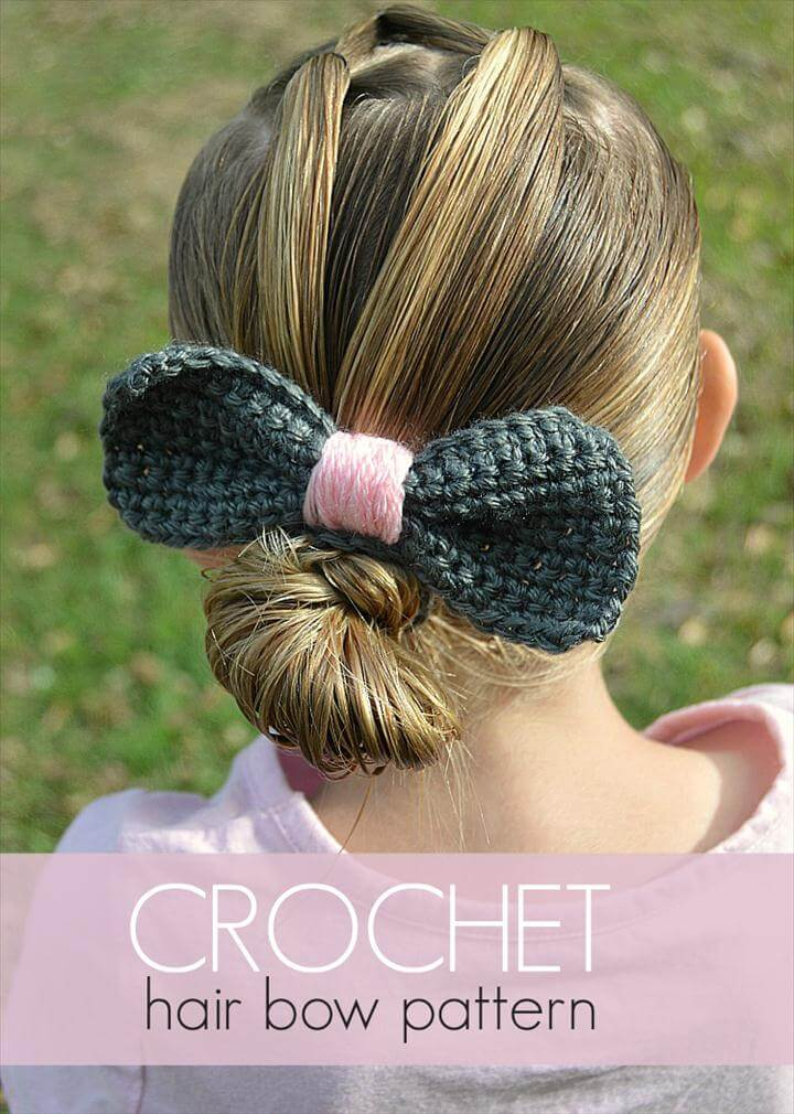 Crochet Hair Bow Pattern