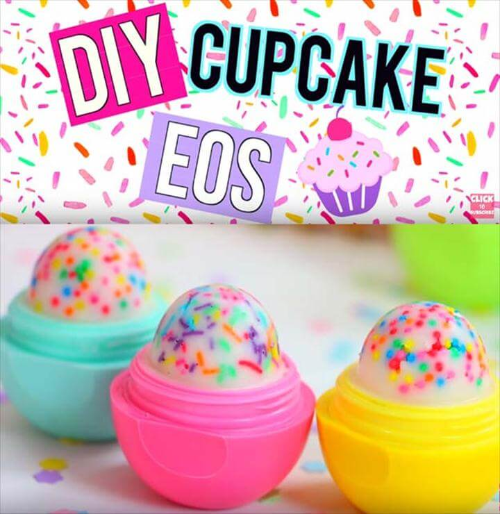 Best DIY EOS Projects - DIY Cupcake EOS Lip Balm! - Turn Old EOS Containers