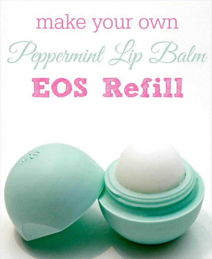 Homemade Peppermint Lip Balm EOS Refill