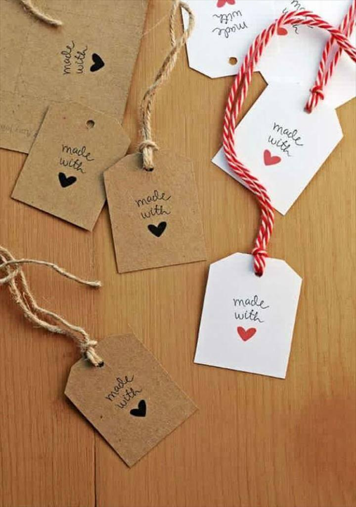 Made With Love Tags, Ideas For Fun and Creative DIY Christmas Gift Tags