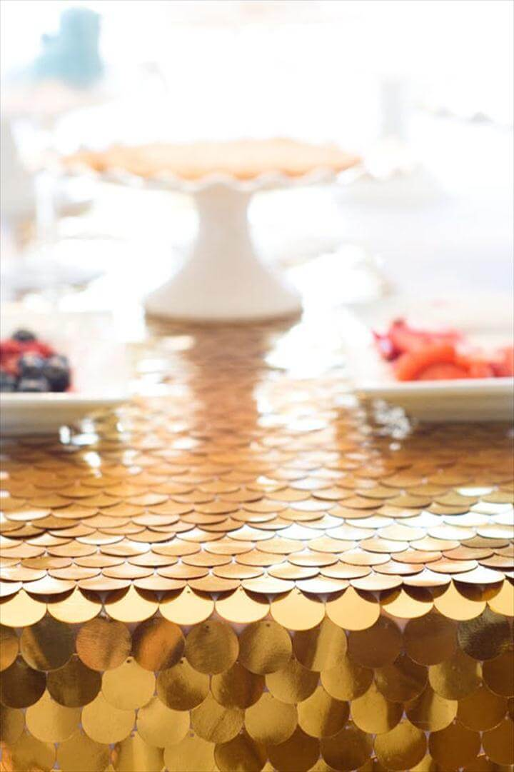 Golden Table Runner