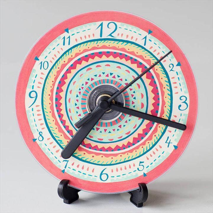 Aztec Compact Disc Clock