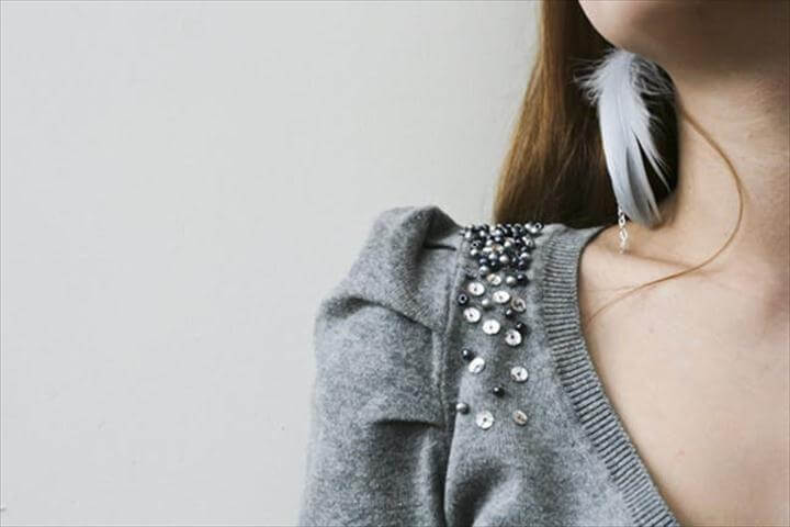 Sequin-Embellished Sweater