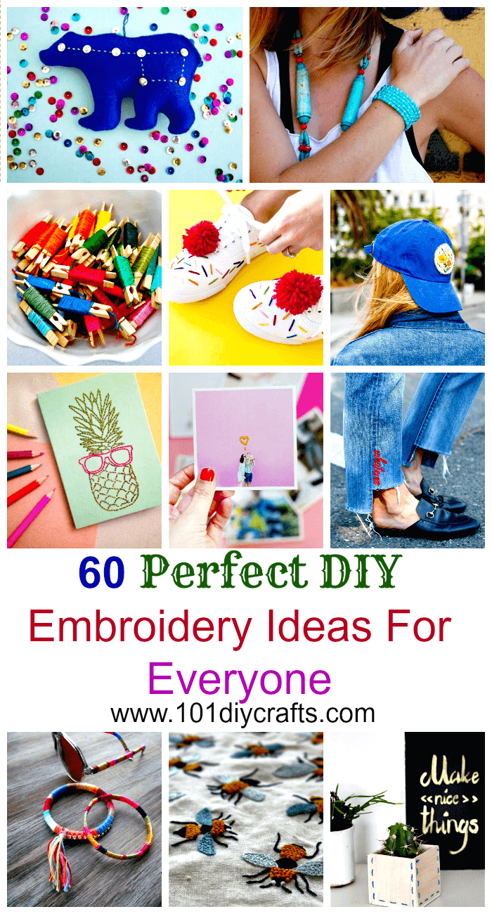 60 Perfect DIY Embroidery Ideas For Everyone