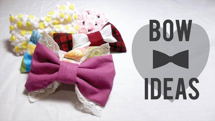 Easy and Cute DIY Fabric Hair Bow Ideas