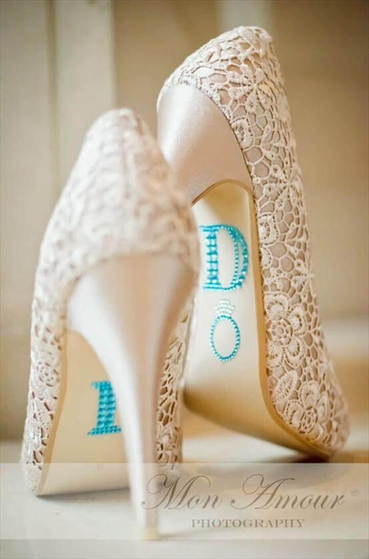 Wedding Shoe Rhinestone Applique