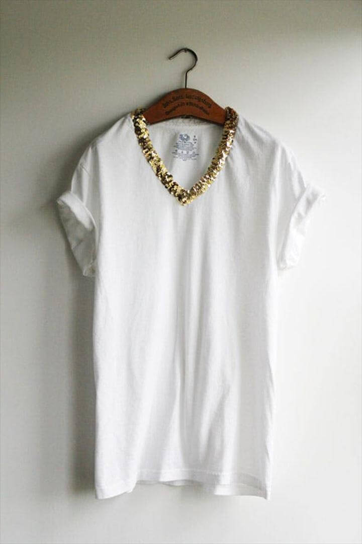 Gold-Embellished Tee