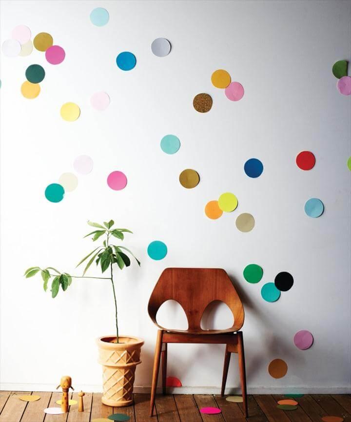 Confetti Wall Decor DIY