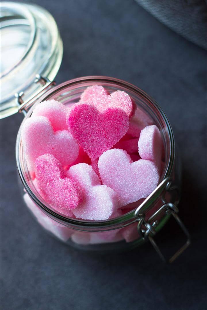ombre sugar hearts