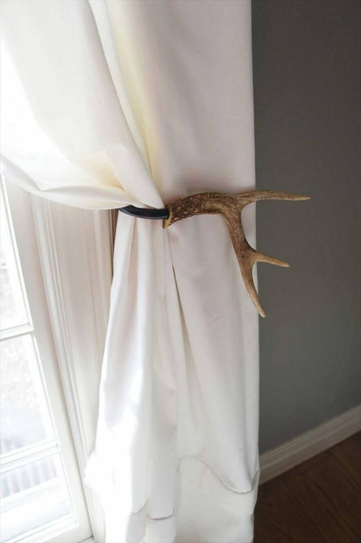 Reserved For Amanda Schmidt Curtain Tieback Deer Antler Tie Back Loops Extraordinary